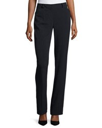 Neiman Marcus Classic Straight Leg Trousers Navy