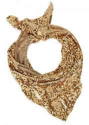 Paco Rabanne Gold Tone Chainmail Scarf