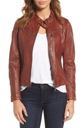 Mauritius Leather Women's Lambskin Moto Jacket