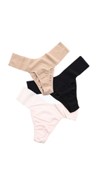 Hanky Panky Bare 3 Eve Natural Rise Thongs Neutral