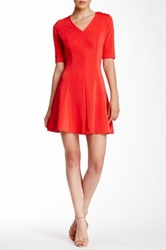 Emploi Dahl Pleated Dress Red