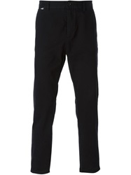 Love Moschino Embossed Logo Trousers Black