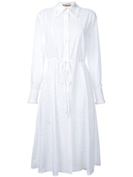 Flow The Label Drawstring Shirt Dress Women Cotton S White