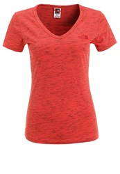 The North Face Simple Dome Print Tshirt Mottled Light Red