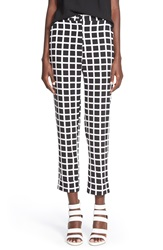 Leith Checkered Pants Black Grid