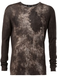 Avant Toi Distressed Effect Sweater Green