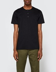 Wings Horns Link Knit Henley Black