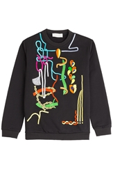 Peter Pilotto Embellished And Emroidered Cotton Sweatshirt
