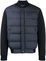 Salvatore Ferragamo Padded Front Jacket Blue