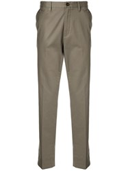 Kent And Curwen Straight Leg Trousers Brown