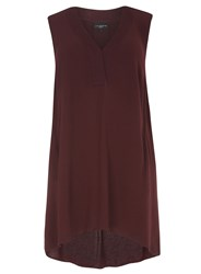 Evans Live Unlimited Burgundy Sleeveless Top Red