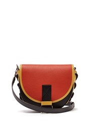 Jw Anderson Bike Leather Saddle Cross Body Bag Red Multi