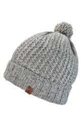 Men's Bickley Mitchell Pom Beanie Grey Grey Melee