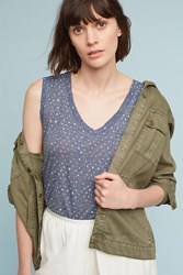 Anthropologie Pocket Tunic Top Navy