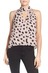 Women's Kendall Kylie Animal Print High Neck Tank