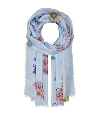 Collection Xiix Hello Spring Wrap Blue Scarves