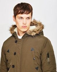 The Idle Man Nylon Parka Green