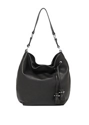 Botkier Kenna Tassel Leather Hobo Black