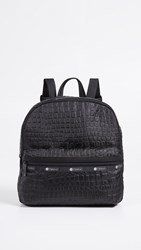 Le Sport Sac Lesportsac Janis Backpack Black Croco