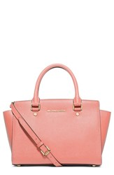 Michael Michael Kors 'Selma Medium' Zip Top Satchel Pink Pale Pink