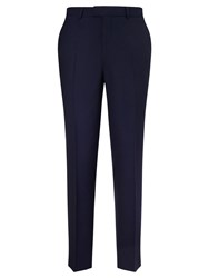 Chester Barrie By Hopsack Wool Tailored Suit Trousers Royal Blue