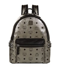 Mcm Small Dual Stark Backpack Female Silver