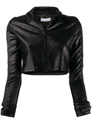 Paco Rabanne Cropped Glitter Zip Up Jumper 60