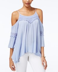 American Rag Crochet Trim Off The Shoulder Top Only At Macy's Blue Heron