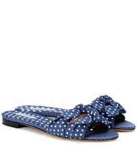 Tabitha Simmons Cleo Polka Dot Slip On Sandals Blue