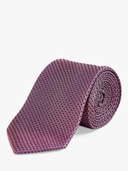 Chester Barrie By Puppytooth Silk Tie Pink