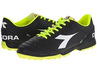 Diadora Italica 3 R Tf Black White Men's Soccer Shoes