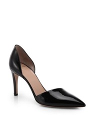Giorgio Armani Leather D'orsay Pumps Black