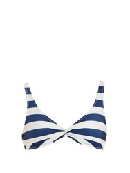 Solid And Striped The Jane Bikini Top Blue Stripe