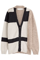 Golden Goose Patchwork Knit Cardigan Beige