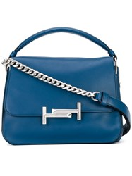 Tod's Double T Tote Women Leather One Size Blue
