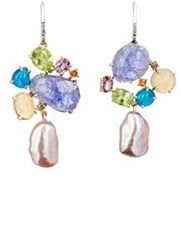 Sharon Khazzam Women's Ellie Drop Earrings Colorless