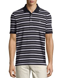Callaway Short Sleeve Striped Polo Caviar Black