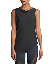 Michi Aerial Twisted Open Back Top Black