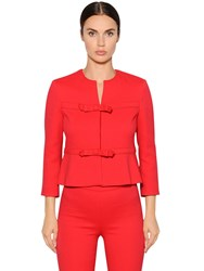 Giambattista Valli Crepe Short Jacket With Bows