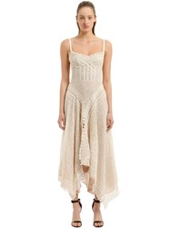 Alexander Mcqueen Cotton Blend Lace Maxi Dress