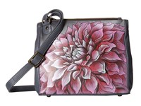 Anuschka 525 Dreamy Dahlias Pink Cross Body Handbags