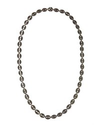 Margo Morrison Long Black Spinel Link Necklace 35