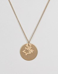 Pieces Gold Star Trio Necklace