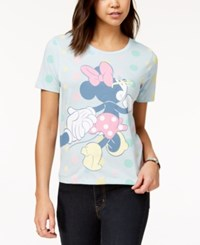 Mighty Fine Disney Juniors' Minnie Mouse Graphic T Shirt By Light Blue