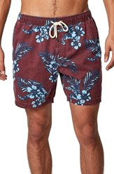 7 Diamonds Grand Swim Trunks Burgundy