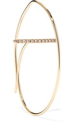 Hirotaka 10 Karat Gold Diamond Hoop Earring One Size