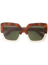 Carolina Herrera Square Frame Sunglasses Brown
