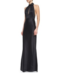 Jason Wu Slit Keyhole Open Back Halter Gown