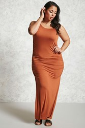 Forever 21 Plus Size Ruched Maxi Dress