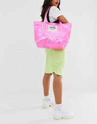 Opening Ceremony Holgraphic Medium Tote Bag Pink